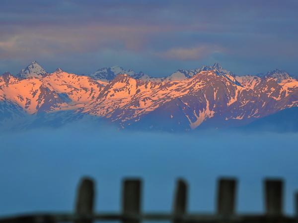 Sonnenaufgang in den Sellrainer Bergen