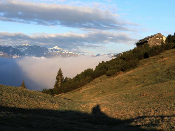 Nebeldecke über dem Inntal