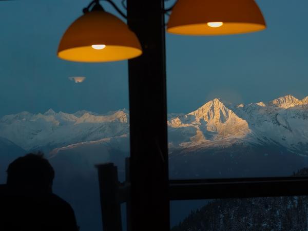 Blick aus dem Stubenfenster ....
