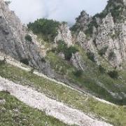 Auf dem Querweg unterhalb der Freyungentürme
